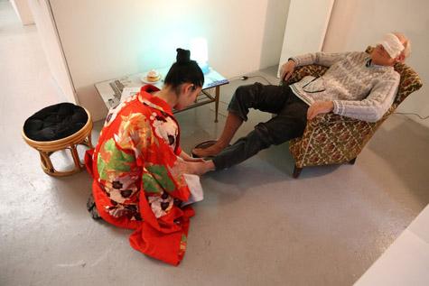 Miki Nitadori, Appartement, Galerie Plateforme, Paris, mai 2015, crédits photo : Emmanuelle Dagnaud
